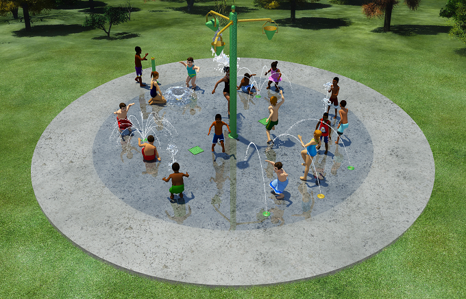 Small splash pad